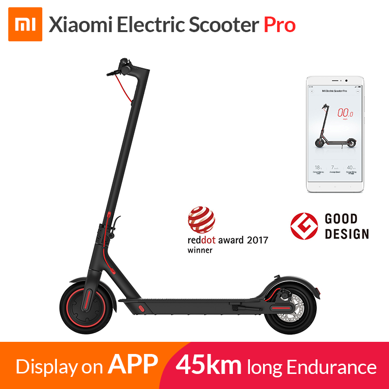 2019 Xiaomi Mi Electric Scooter Mijia M365 Pro Smart E Scooter Skateboard Mini Foldable Hoverboard Longboard Adult 45km Battery