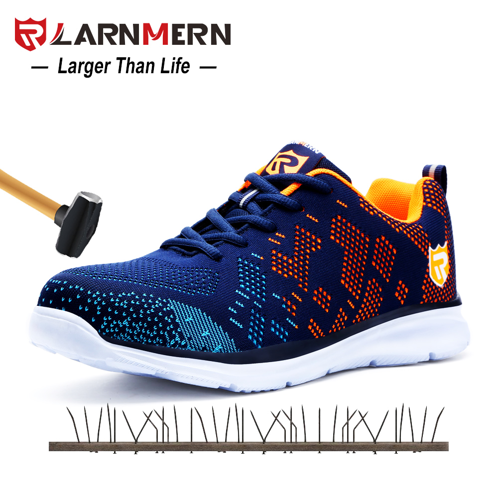 Work & Safety Boots Open-Minded Jackshibo Safety Shoes For Men Summer Breathable Work Shoes Lightweight Anti-smashing Shoes Male Construction Work Mesh Sneakers Men's Boots