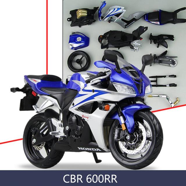 Cbr1000rr motocicleta modelo kits de construção 1/12 montagem de brinquedo caçoa o presente mini moto diy modelos diecast toy para o presente coleção