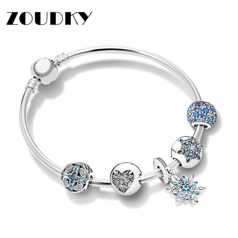 ZOUDKY 100% 925 Sterling Silver New 1:1 Ice Crystal Snowflake Condensed Cream Bracelet Set Charming Fashion Elegant Jewelry GiftZOUDKY 100% 925 Sterling Silver New 1:1 Ice Crystal Snowflake Condensed Cream Bracelet Set Charming Fashion Elegant Jewelry Gift