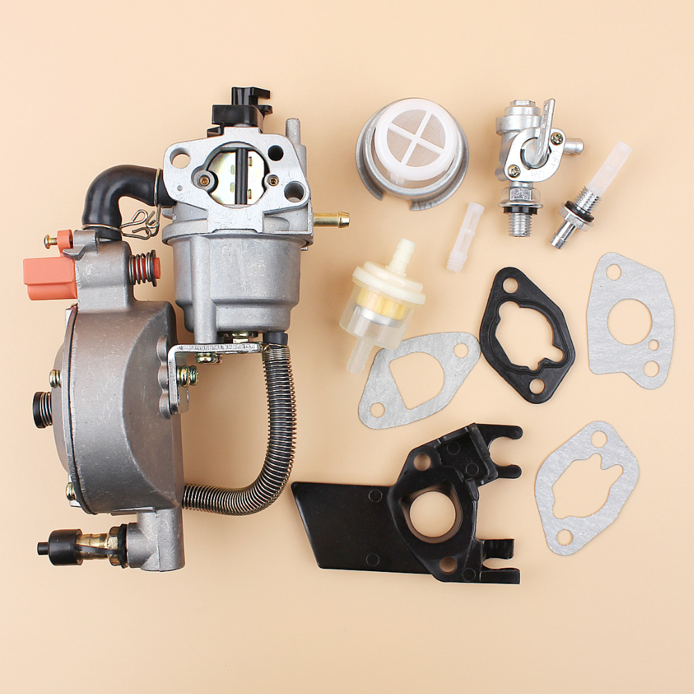 Duel Carburetor Gasket Fuel Filter Petcock Kit For HONDA GX160 GX200 168F 170F 2.5-3KW Generators Gasoline Engine Motor uxcell generator dual fuel carburetor carb lpg ng conversion kit 2kw gx160 gx200 168f 170f manual metal generators accessorie
