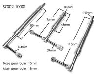 Anti Vibration Landing Gears For Class 40 60 Airplane Shock Absorbing 3PCS Set SZ002 10001