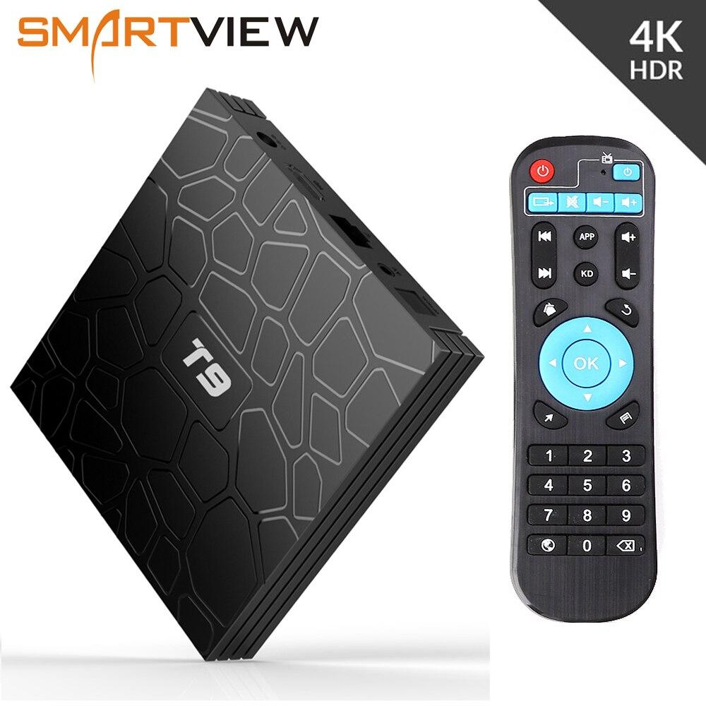 Android 8,1 Smart ТВ коробка VONTAR T9 4 Гб Оперативная память 32 ГБ/64 ГБ Встроенная память Rockchip RK3328 H.265 4 K дополнительно 2,4G/5 ГГц двойной WI-FI ТВ коробка pk Ми ...