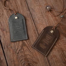 Handmade Grazy Horse Leather baggage tag Genuine Leather Retro credit card set Cowhide bank card case ID holder Luggage Tag
