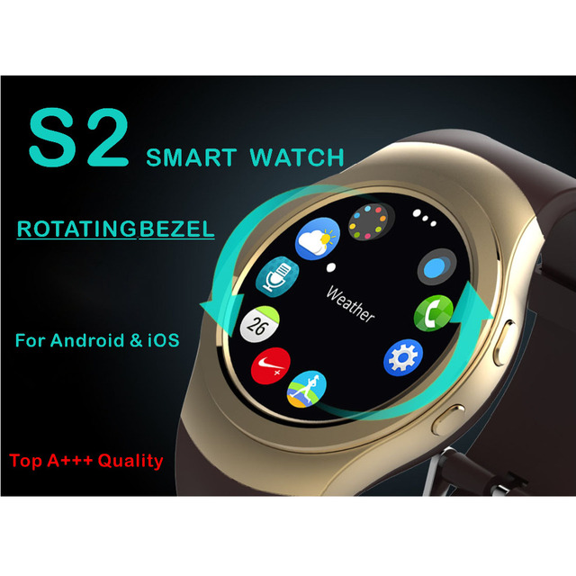 Bluetooth Smart Watch AS2 S2 Smartwatch ВРАЩАЮЩИЙСЯ ОБОДОК часы для apple iPhone Samsung для Android huawei xiaomi lenovo