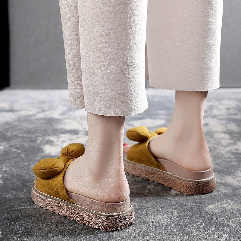 Mignon Diapositives Designers Schoenen Pantoufles Plate Designer Femme Noeud Moda Gg De forme 2018 Marque Arc 1 2 Luxe Velours Dames gxnAOZRvZw