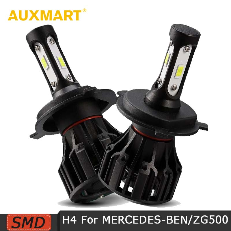 AUXMART H4 Hi Lo Beam Led Headlight Bulbs 72W 8000lm 6500K LED Car Auto Headlamp Car Light For MERCEDES-BENZ/S600SEL/G500/MR2