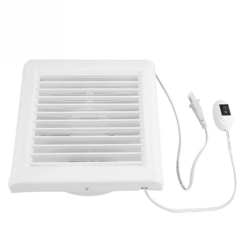6 Inch 15W 220V Wall Mounted Exhaust Fan Low Noise Home Bathroom Kitchen Garage Air Vent