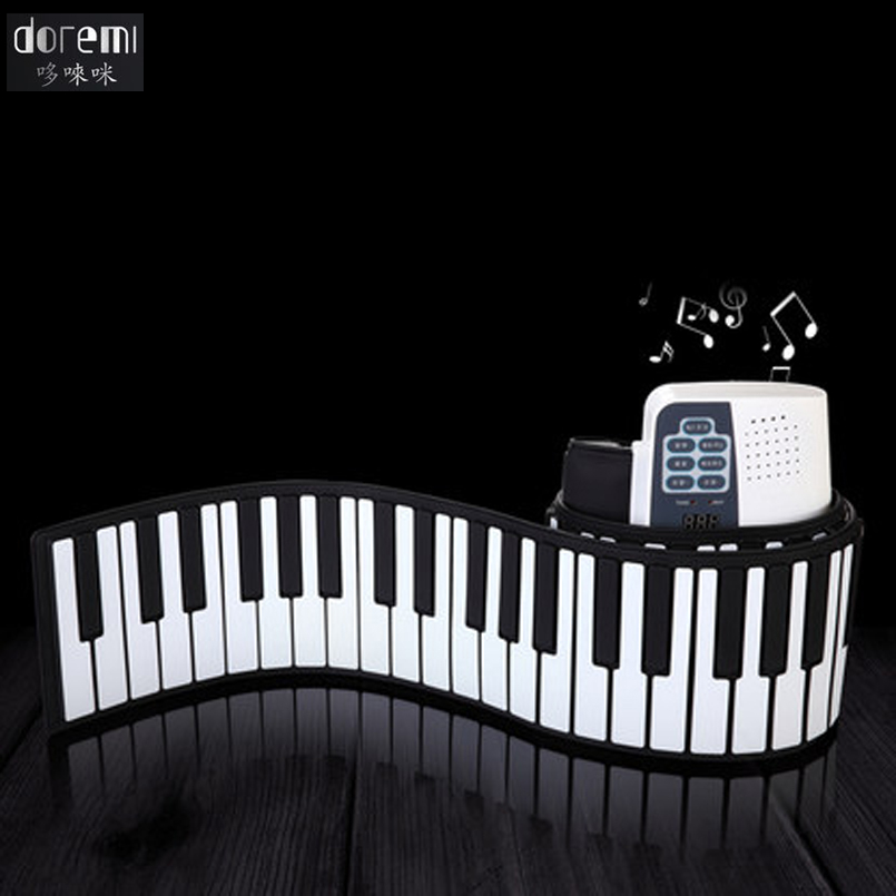 DoReMi 88 Keys Professional Roll up Piano Electronic Organ Silicone USB Folding Piano Portable Musical Instruments S-884 doremi intelligent professional hand rolled electronic piano 49 keys children silicone folding portable piano s2049
