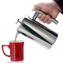 French Press Coffee Tea Brewer Double Wall 1Liter 34 Ounces, Heavy Duty 18/10 Stainless Steel thermos For Coffee Drinkware