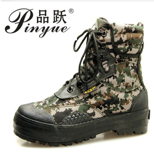 Camouflage High Tube Canvas Rubber Sole Training Shoe Men Outdoor Hiking Hunting Climbing Walking Military Combat Tactical BootsCamouflage High Tube Canvas Rubber Sole Training Shoe Men Outdoor Hiking Hunting Climbing Walking Military Combat Tactical Boots