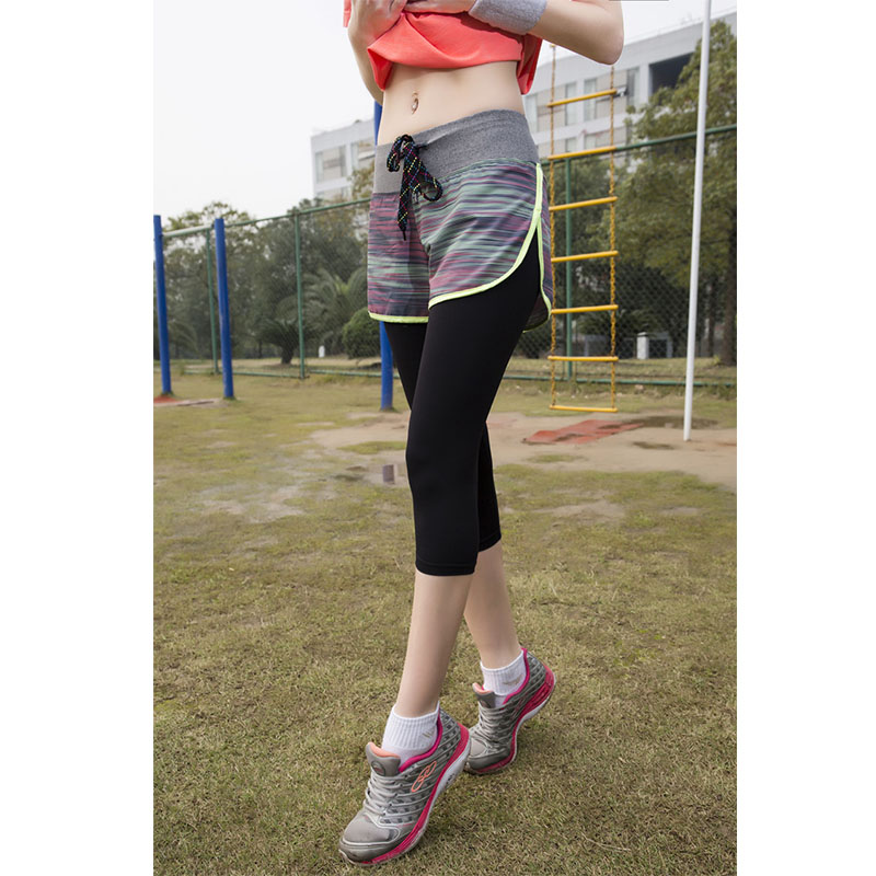 Women Gym Fitness Yoga Shorts With Leggings For Workout