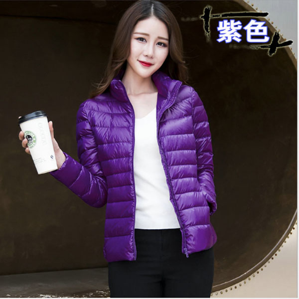 2018 New Autumn Winter Ultra Light   Down   Jacket Women Windproof Warmth Women's Lightweight Packable   Down     Coat   Plus Size Parkas