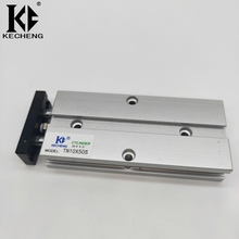 25mm Bore Pneumatic Cylinder 10/15/20/25/30/35/40/45/50/60/70/75/80/90/100/125/150mm Stroke TN Type Magnetic Air Cylinder tn 25 35 two axis double bar cylinder cylinder tn type 25mm bore 35mm stroke double action pneumatic air cylinder