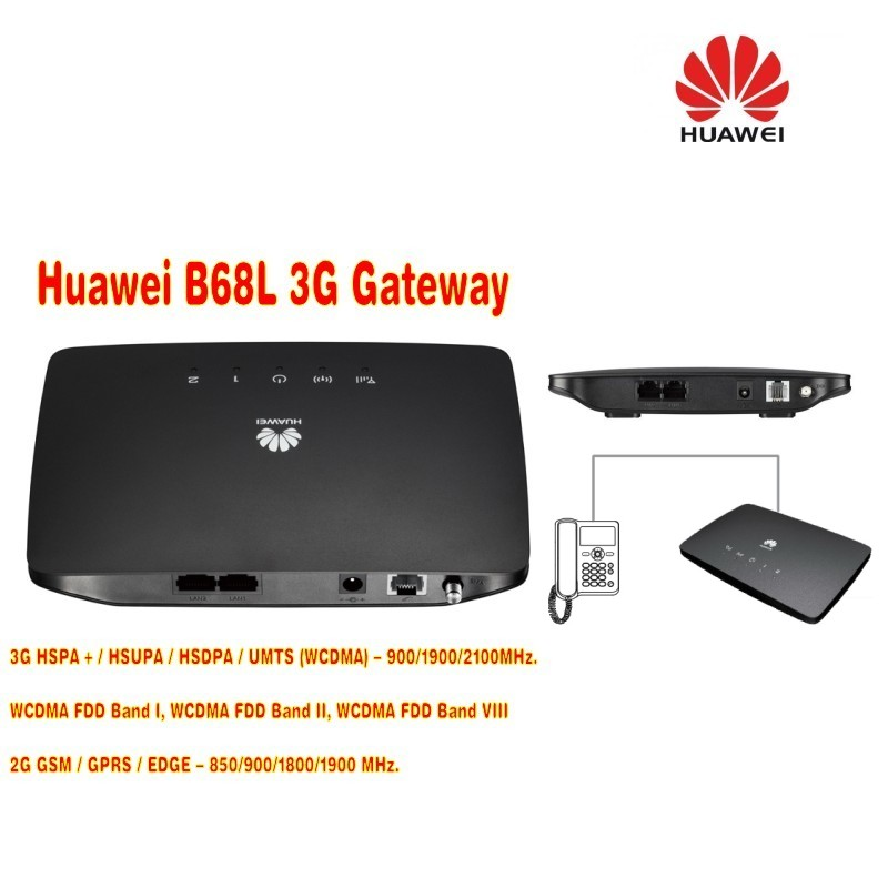 Lot of 100pcs Huawei B68L-25 900/1900/2100Mhz 3G wireless gateway Huawei B68L 3G Unlocked router PK B683,DHL shipping