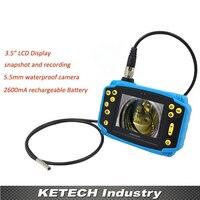 Новый профессиональный 3.5 ЖК дисплей автомобиля диагностический инструмент видео эндоскопа бороскоп Водонепроницаемый змея Камера инспе