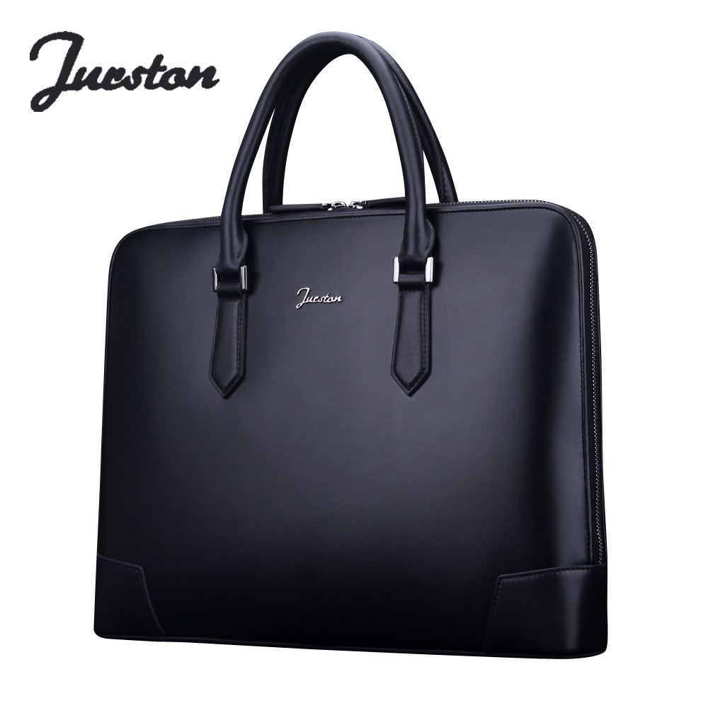 Wire man bag handbag commercial genuine leather laptop bag high quality male cowhide briefcase tote bag