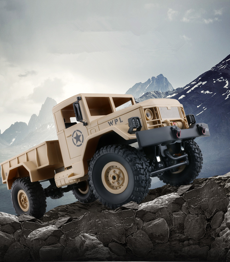 GWOLVES 1/16 M35 mini Military truck 2.4G 4CH 4WD Off-Road Rock Crawler RTR Proportional remote control car best gift