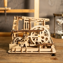 Robotime 4 Kinds DIY Wood Sculptures Industrial Decoration Statues Living Room Table Desk Accessories Anniversary for Gift LG