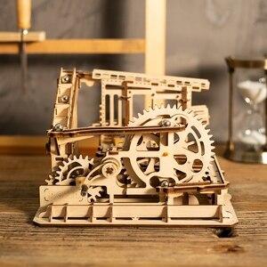 Image 2 - Robotime DIY Cog Coaster Đá Cẩm Thạch Chạy Trò Chơi Mô Hình Bằng Gỗ Xây Dựng Bộ Dụng Cụ Lắp Ráp Đồ Chơi Quà Tặng Cho Trẻ Em LG502