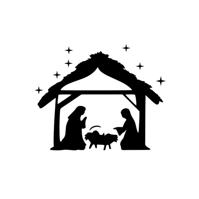 Jesus Christ Birth Wall Decal Mary and Joseph Christian Religion Vinyl Home Decor Wall Sticker