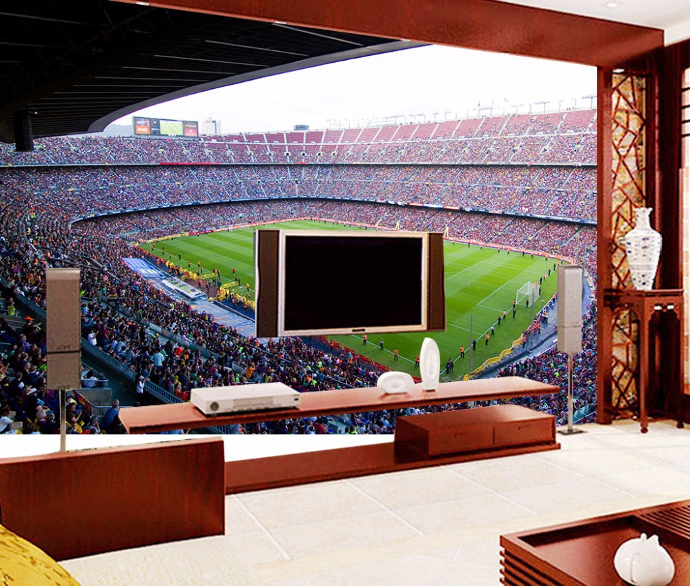 3d Papel Murals Wallpaper For Walls 3d Photo Murals Of Barcelona Sports  Football Stadium Soccer 3d Wall Mural For Living Room In Wallpapers From  Home ...