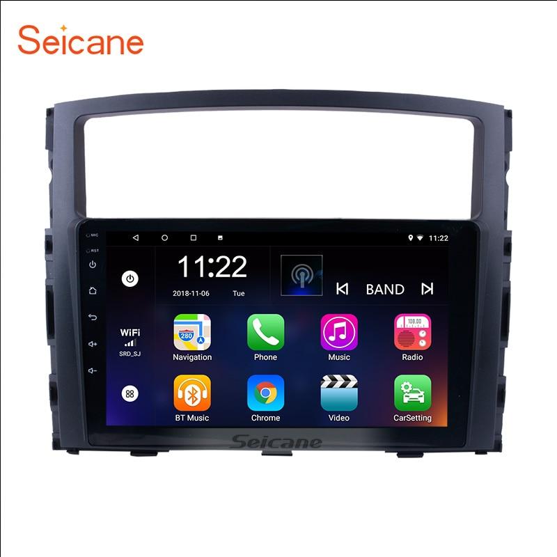 Seicane 9 HD 1024*600 Android 8.1 pour 2006 2007 2008-2013 Mitsubishi Pajero V97/V93 quad-Core autoradio GPS lecteur multimédia