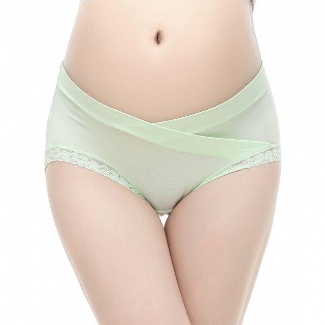4Piece/Lot Cotton Pregnant Panties Maternity Underwear U-Shaped Low Waist Maternity Pregnancy Briefs Women Clothing 8-Colors 5