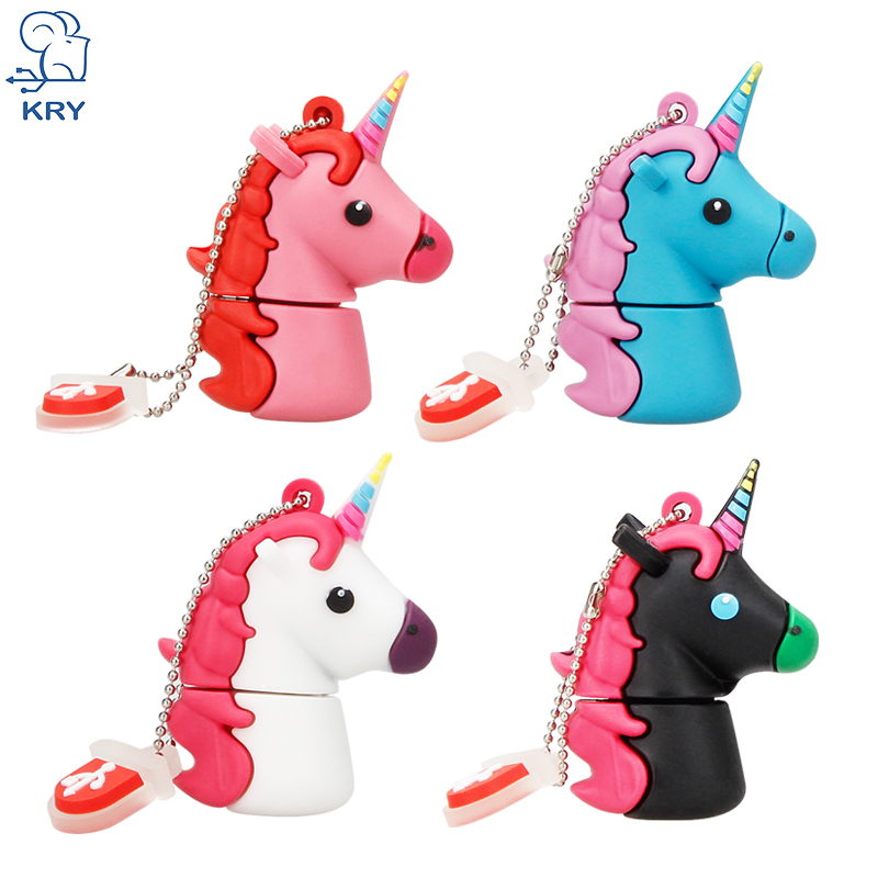 XIWANG New Style Cartoon Unicorn Pen Drive 64gb 32gb usb flash drive cute horse pendrive real capacity 4gb 8gb 16gb memory stick цена