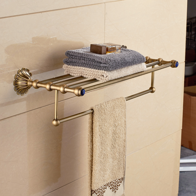Luxury Antique Clothes Towel Shelf Towel Rack Holder w Towel Bar