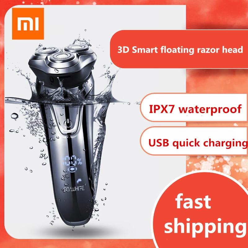 XIAOMI Youpin SO WEIß ES3 Elektrische Rasierer rasierer Drahtlose 3D Smart Schwimm IPX7 Wasserdichte USB Lade Rasieren Maschine Für Männer