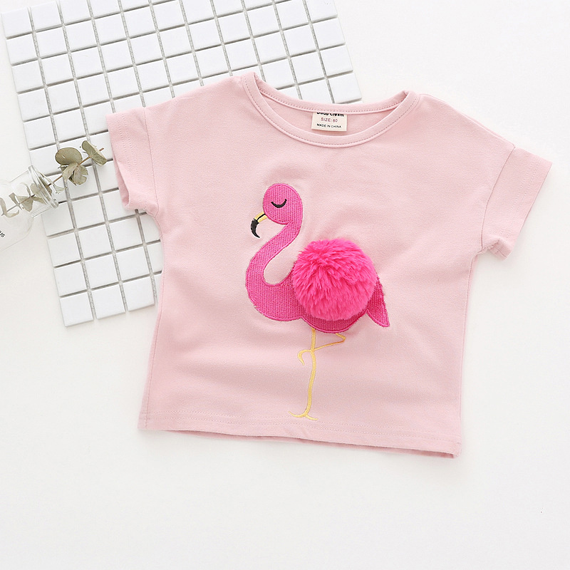 Flamingos Unisex 100/% Cotton Childrens 3//4 Sleeves T-Shirt Top Tees 2T~5//6T