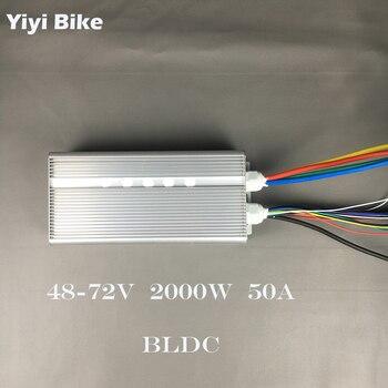 42-72 V 2000W 50A 36MOSFET DC בקר חשמלי אופני Brushless מנוע בקר אולם חיישן הפוך פונקציה e-קטנוע קיט