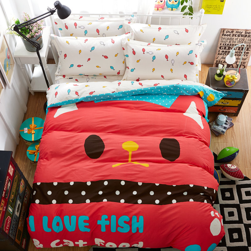 Online get cheap fish bedding twin for Fishing bedding sets