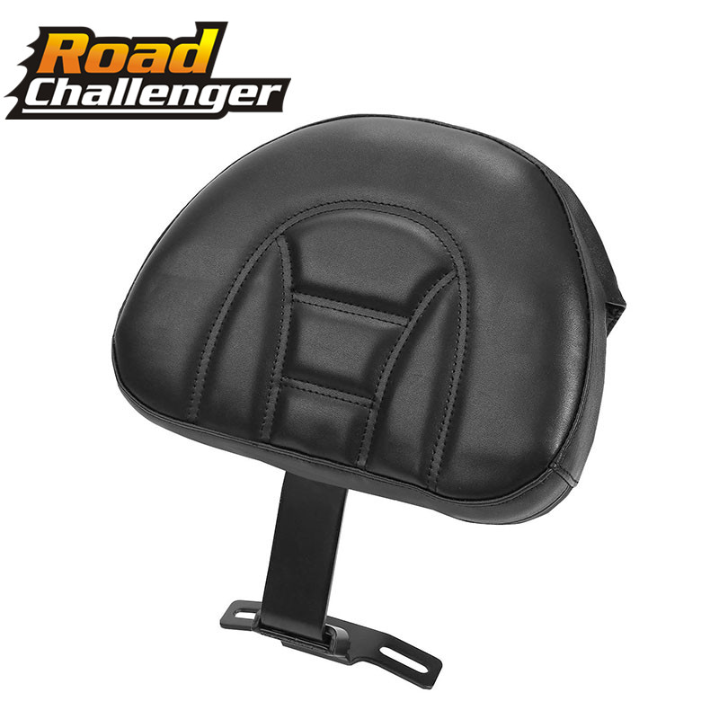 Motorcycle Backrest Black Adjustable Plug In Driver Rider Seat Cushion Pad For Harley Fatboy Heritage Softail 2007-2017