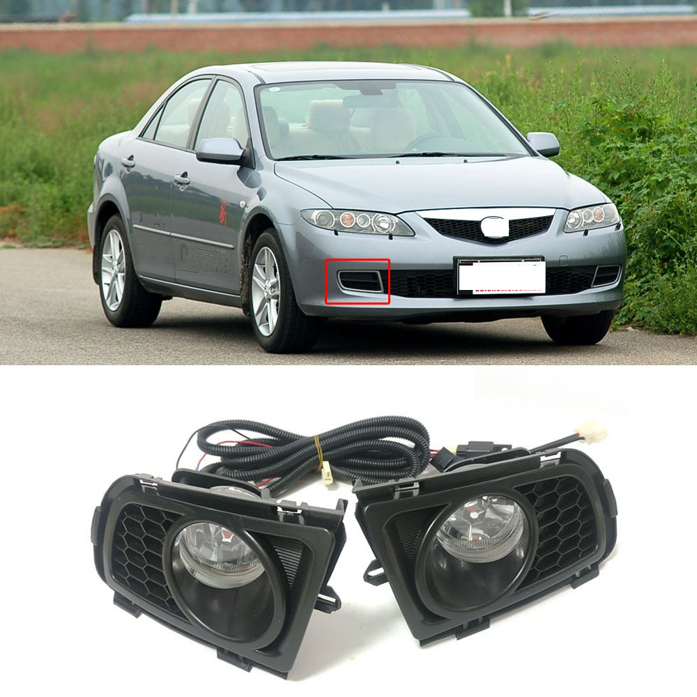 FOR 14-16 MAZDA 6 GJ1 OE REPLACEMENT CHROME FOG LIGHT+SWITCH+WIRING+CHROME BEZEL
