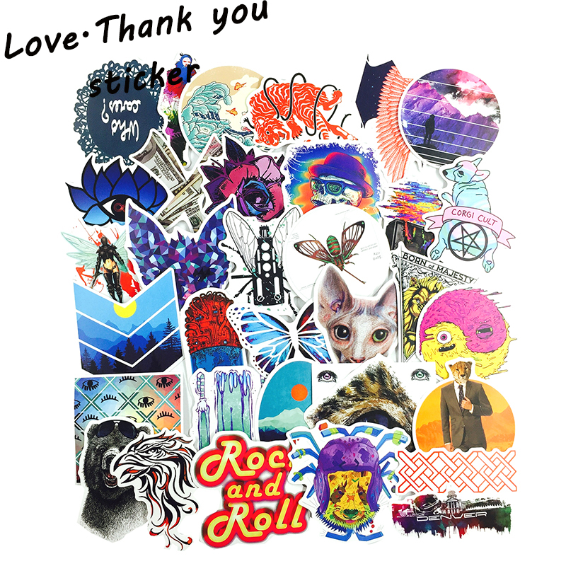 100 PCS Mixed Stickers for Laptop Luggage Car Bicycle Motorcycle Skateboard Phone Home Decor Decal Graffiti Waterproof Sticker