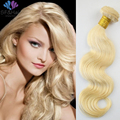HOT Light Blonde Ombre Hair Extensions #613 Blonde Malaysian Body Wave Weave 1 Piece Unprocessed Malaysian Virgin Hair Bundles