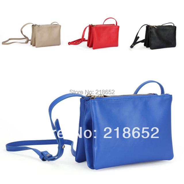 Free Shipping KKY Fashion beauty bag women's handbag day clutch bag messenger bag trio