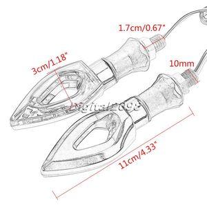 Image 2 - Yetaha 1 Paio Moto Moto Indicatori di Direzione Indicatori Luce Universale 12 LED Ambra Lampeggiante Luci/lampada Per Honda Yamaha
