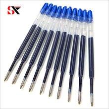 Yushun-stylo Gel d'encre en métal, Recharge pour stylo à bille en métal, noir et bleu, 10 pièces, pour l'école et le bureau, l98 mm, 424