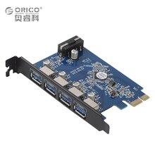 ORICO USB 3.0 pci-e карты/host контроллер карт 4 Порты USB VLI800 Чипсет горячей замены plug & play PCI Express карты расширения