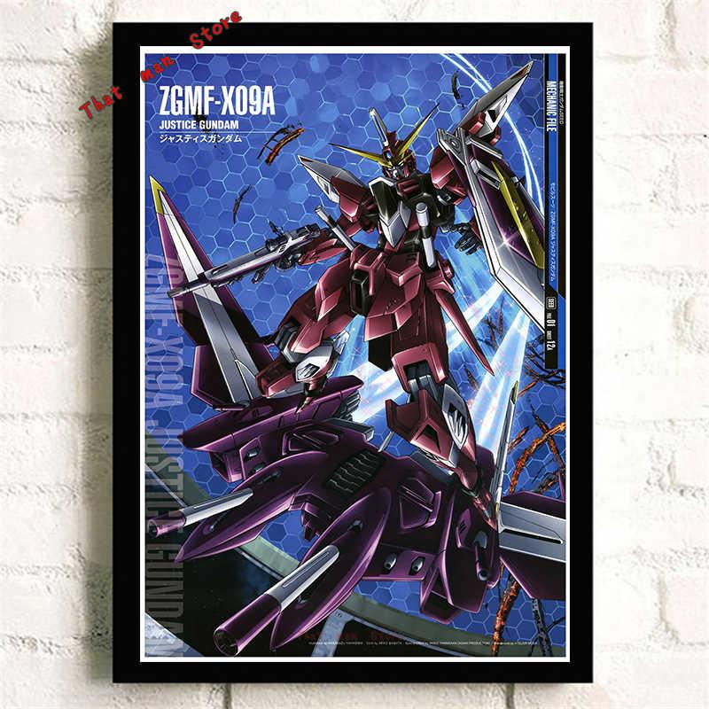 Mobile Suit Gundam Anime Xung Quanh Đế Trắng Nghệ Thuật Poster Dán Tường Trang Trí Dán Tường Quà Tặng Sinh Nhật 42*30 Cm Không khung