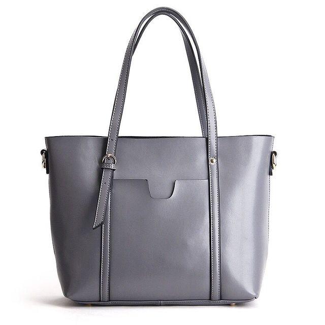 MCO Women Bag Handbag Genuine Leather Large Capacity Shopping Bag Luxury Designer Ladies Shoulder Tote Satchel Fashion Cowhide