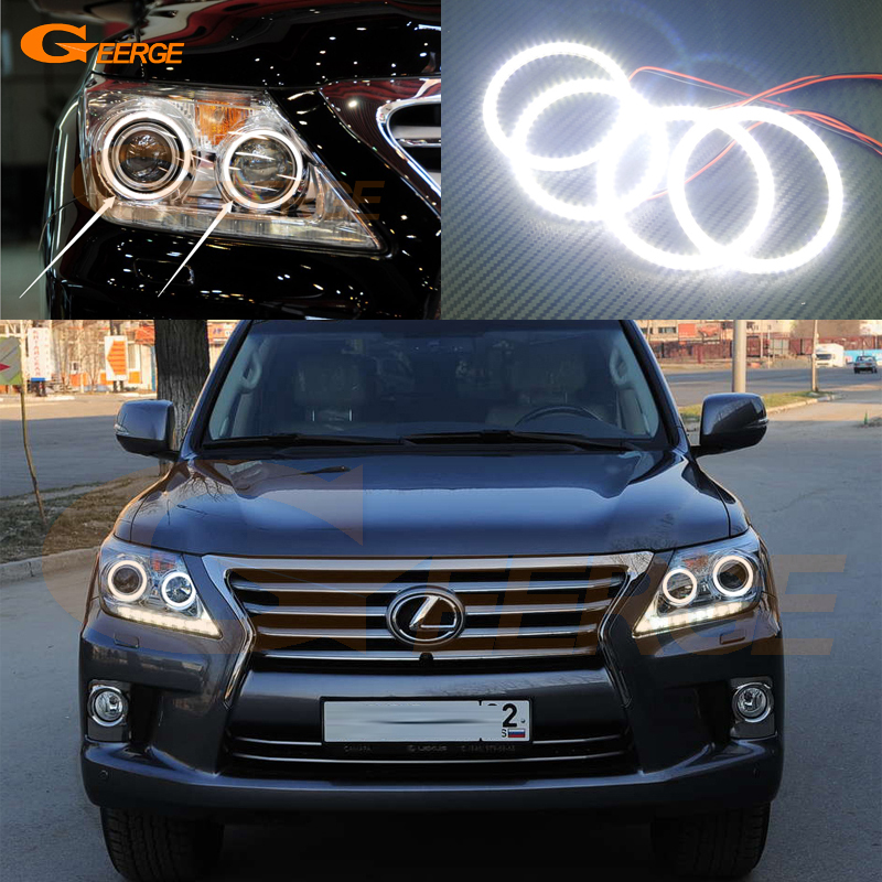 For Lexus LX570 2012 2013 2014 Excellent led angel eyes Ultra bright illumination smd led Angel Eyes Halo Ring kit for lexus rx450h rx350 rx270 2010 2011 2012 excellent led angel eyes ultra bright illumination smd led angel eyes halo ring kit