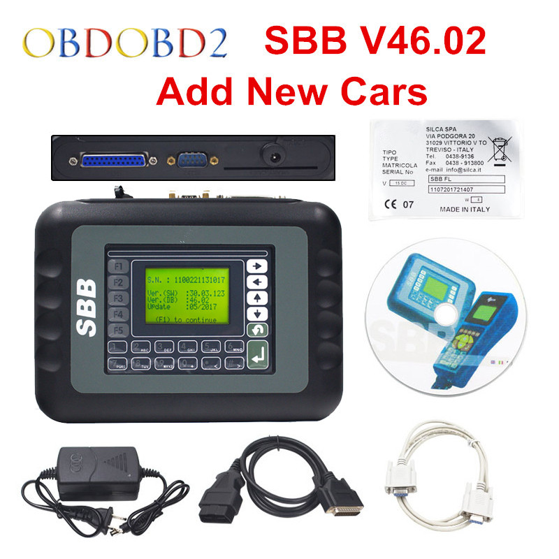 Newest V46.02 SBB Key Programmer Update Of SBB V33.02 Key Transponder Same Function As CK100 46.02 Key Maker Free Ship