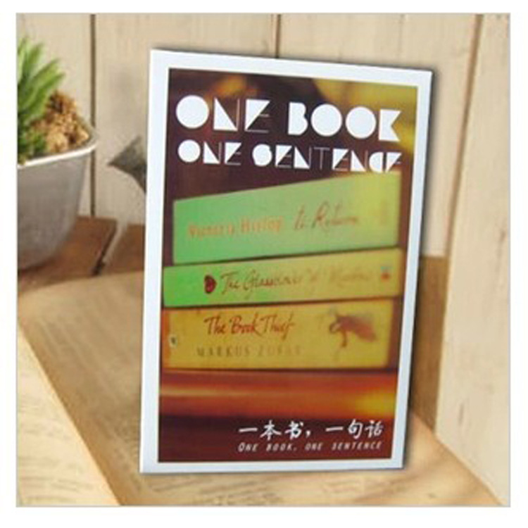 30 Sheets/LOT One Book One Sentence  Postcard /Greeting Card/Wish Card/Christmas And New Year Gifts