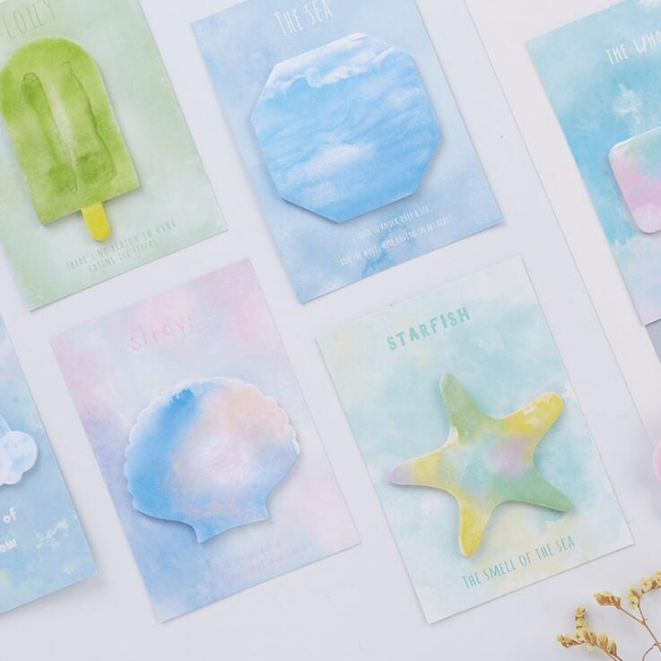 Summer Food Starfish Shell Self-Adhesive Memo Pad Sticky Notes Bookmark School Office Supply