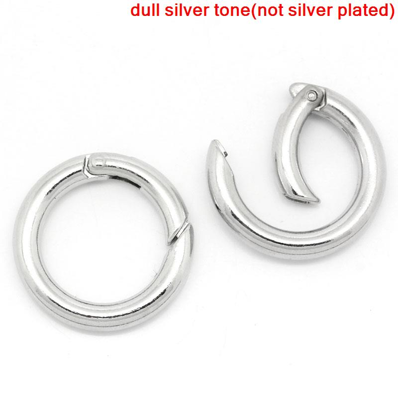 DoreenBeads Zinc Metal Alloy Safety Rings Round Silver Tone 25mm(1