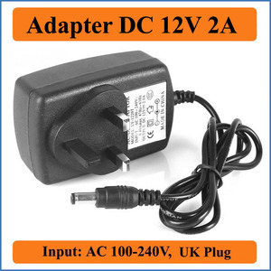 12V 2A UK Plug AC DC Adapter A